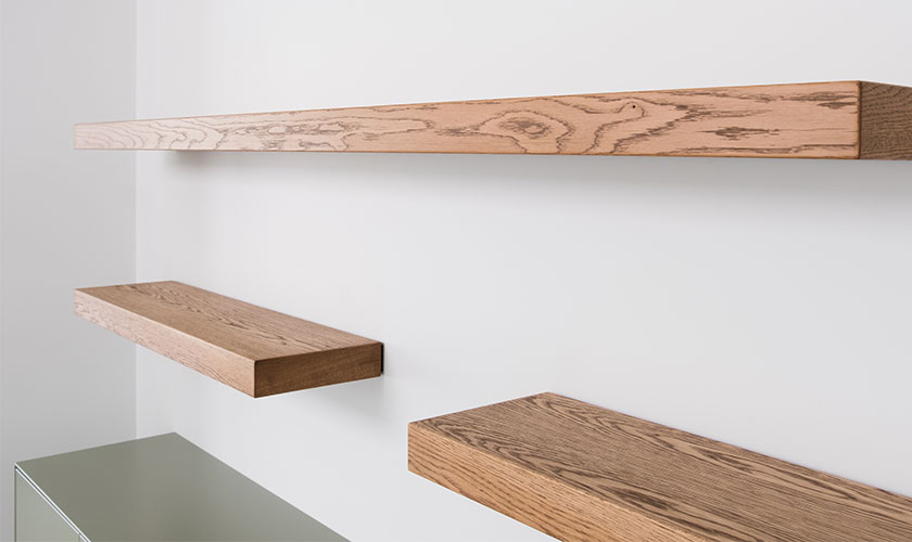 Float Shelf Wiseman Made Extraordinary Oak Veneer Floating Shelves
